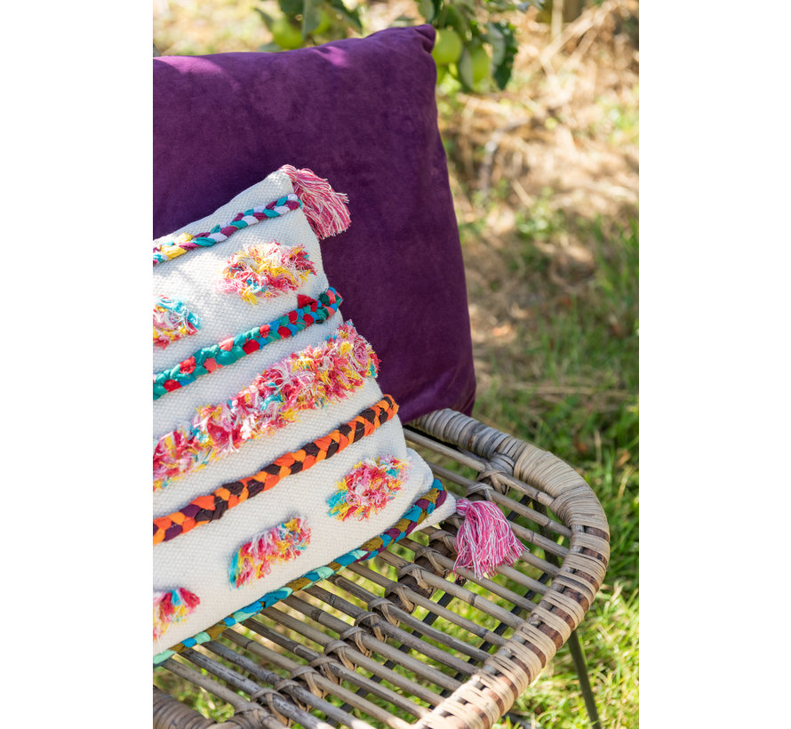 Cushion Square Velvet Purple