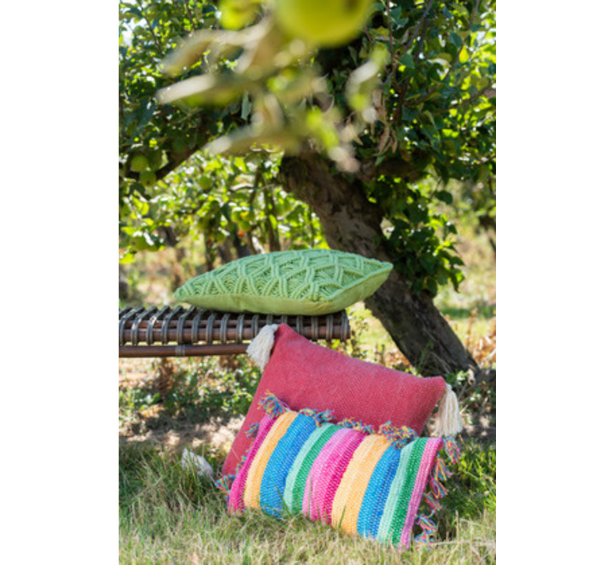 Cushions Square Cotton Handicraft - Green