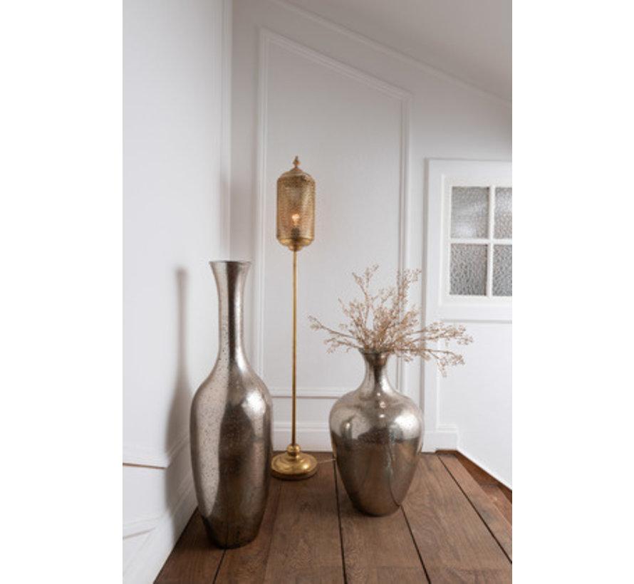 Bottle Vase Glass Elegant Champagne - Small