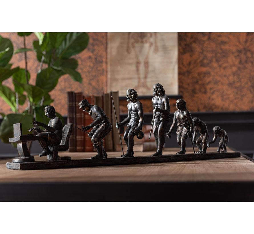 Decoratie Figuur Evolutie Van De Mens - Brons