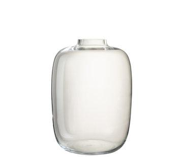 J -Line Bottles Vase Glass Transparent Large