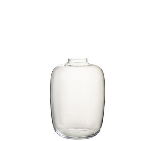 J -Line Bottles Vase Glass Transparent Small