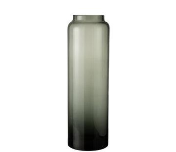 J-Line Flessen Vaas Hoog Glas Grijs Large
