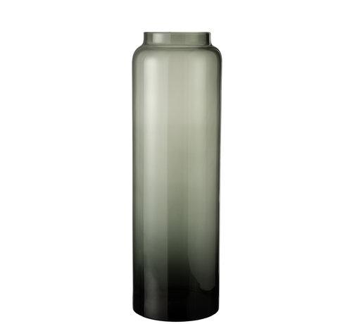 J -Line Flessen Vaas Hoog Glas Grijs Large