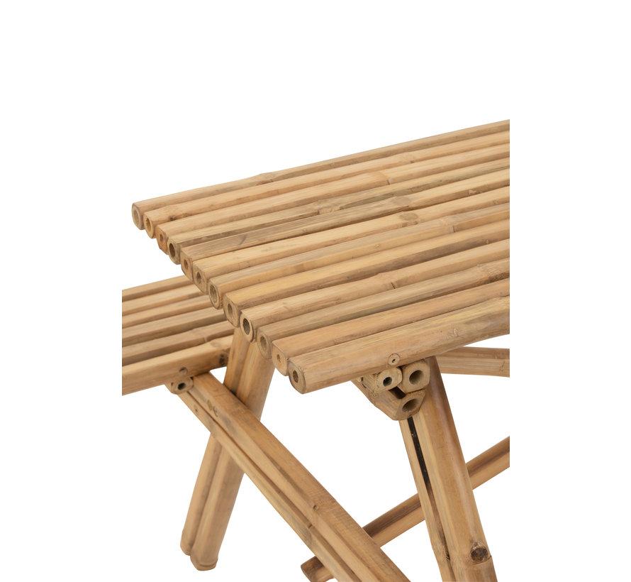 Picnic table Bamboo Natural Brown