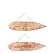 J -Line Wanddecoratie Surfplanken Hout - Mix