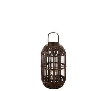 J -Line Lantern Candle Bamboo Small