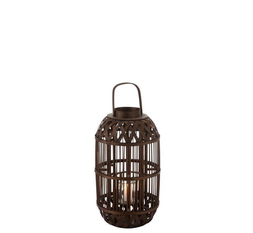 Lantaarn Kaars Bamboo Small