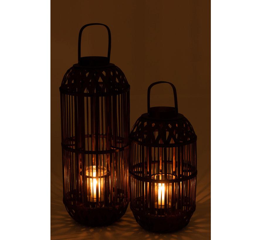 Lantern Candle Bamboo Small