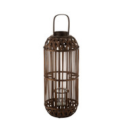 J -Line Lantern Candle Bamboo Brown - Large