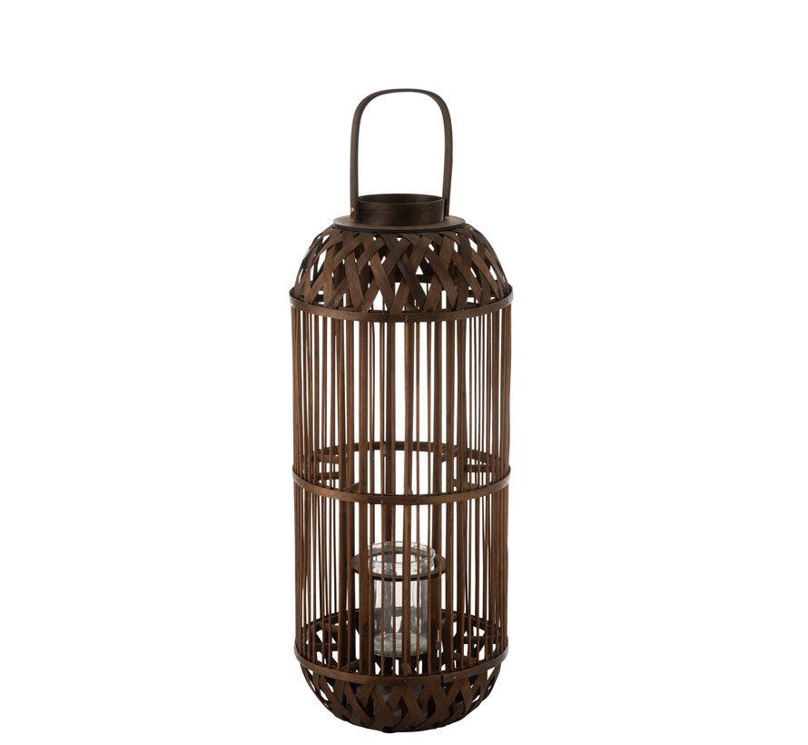 Lantern Candle Bamboo Large