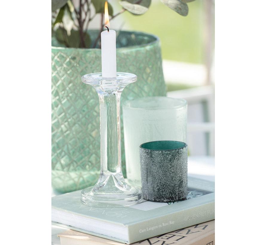 Candlestick Glass Classic Transparent - Large