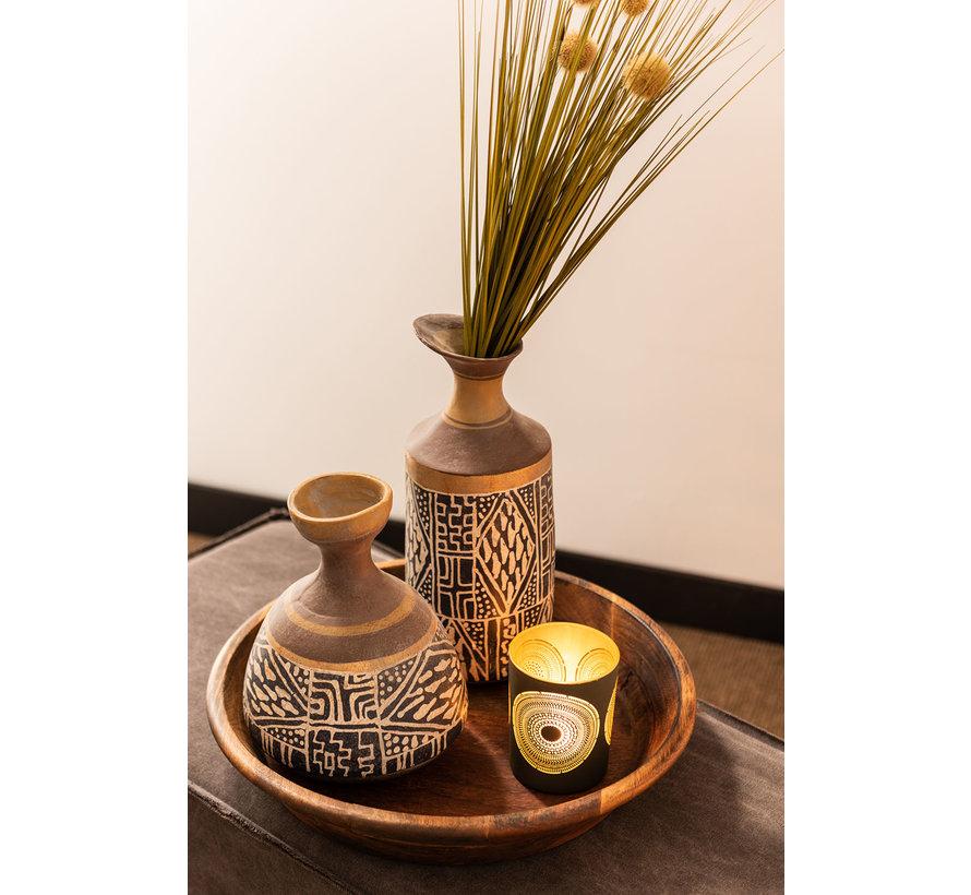 Bottles Vase Eco mix Ethnic Blue - Brown