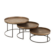 J -Line Side Tables Round Aluminum - Rust