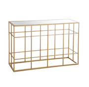 J -Line Console Table Rectangle Metal Glass - Gold