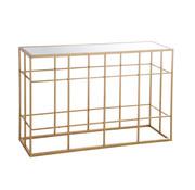 J -Line Consoletafel Rechthoek Metaal Glas - Goud