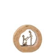 J -Line Decoration figurine marriage proposal - Natural