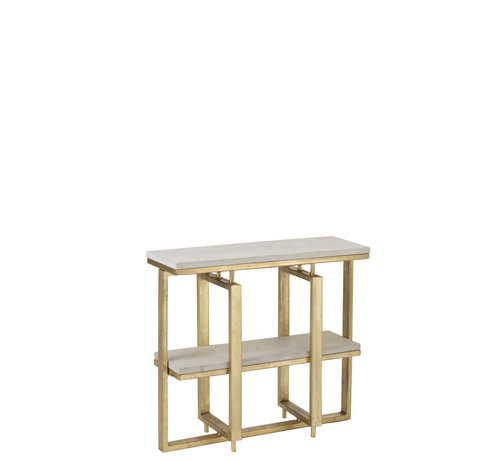 J -Line Console table Rectangle- Gold