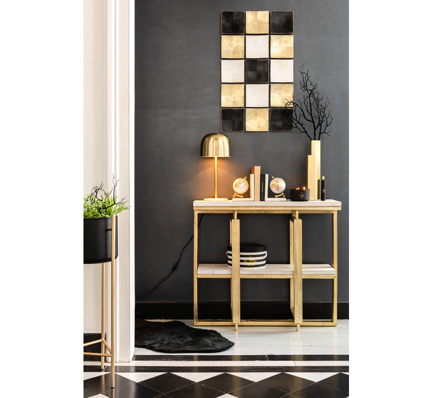 Console table Rectangle- Gold
