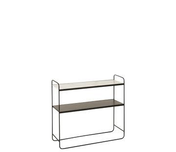 J -Line Consoletafel Klein Hout Metaal - Marmer