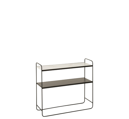 J-Line Consoletafel Klein Hout Metaal - Marmer