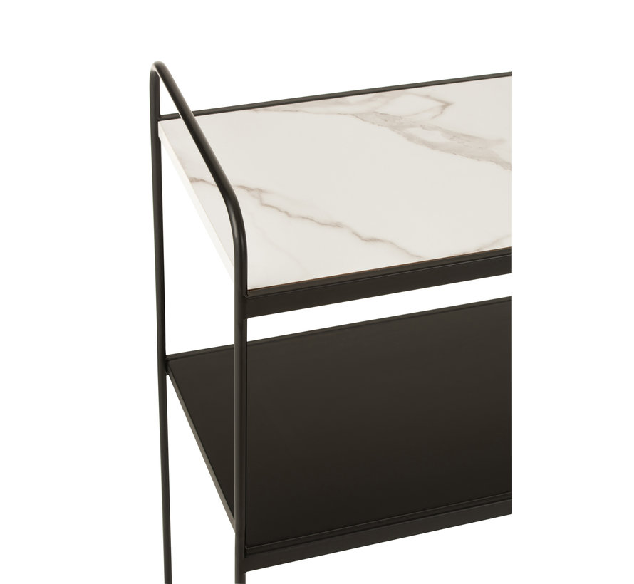 Console table Small Wood Metal - Marble