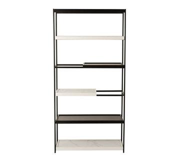 J -Line Open cupboard  Shelves Wood - Marble