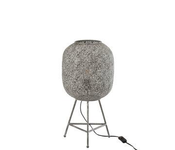 J -Line Standing Lamp Oriental Metal - Gray