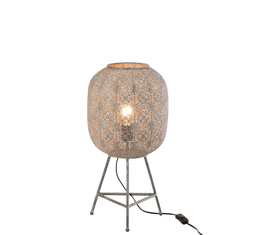 Standing Lamp Oriental Metal - Gray