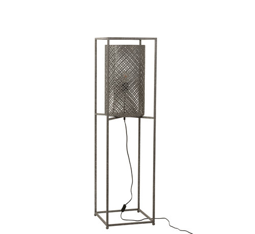 J-Line Floor Lamp On Tripod Gray - Small