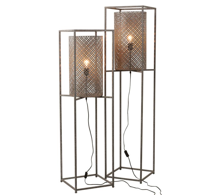 Floor Lamp On Tripod Gray - Small