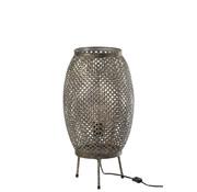 J -Line Floor Lamp Flowers Metal - Gray