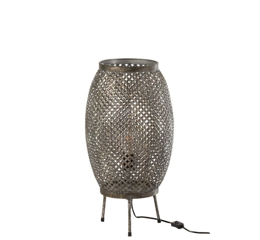 Floor Lamp Flowers Metal - Gray