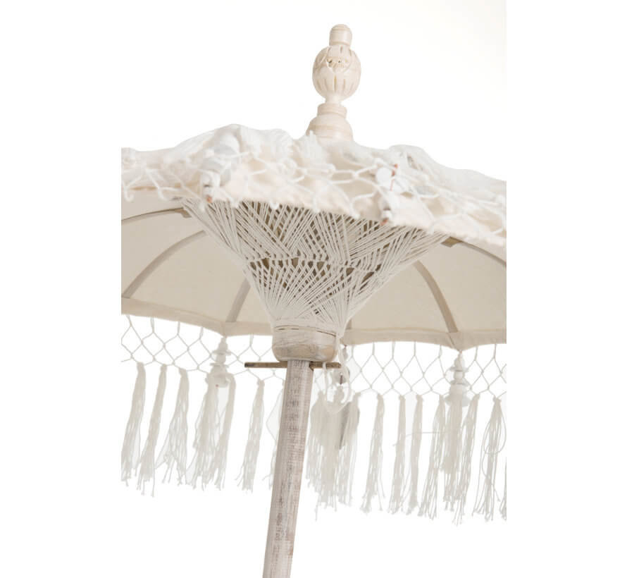 Parasol Tassels Cotton Creme Small