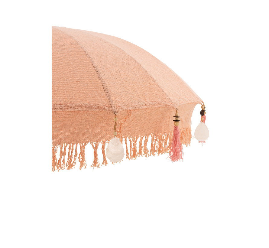 Parasol Kwastjes Katoen Peach Large