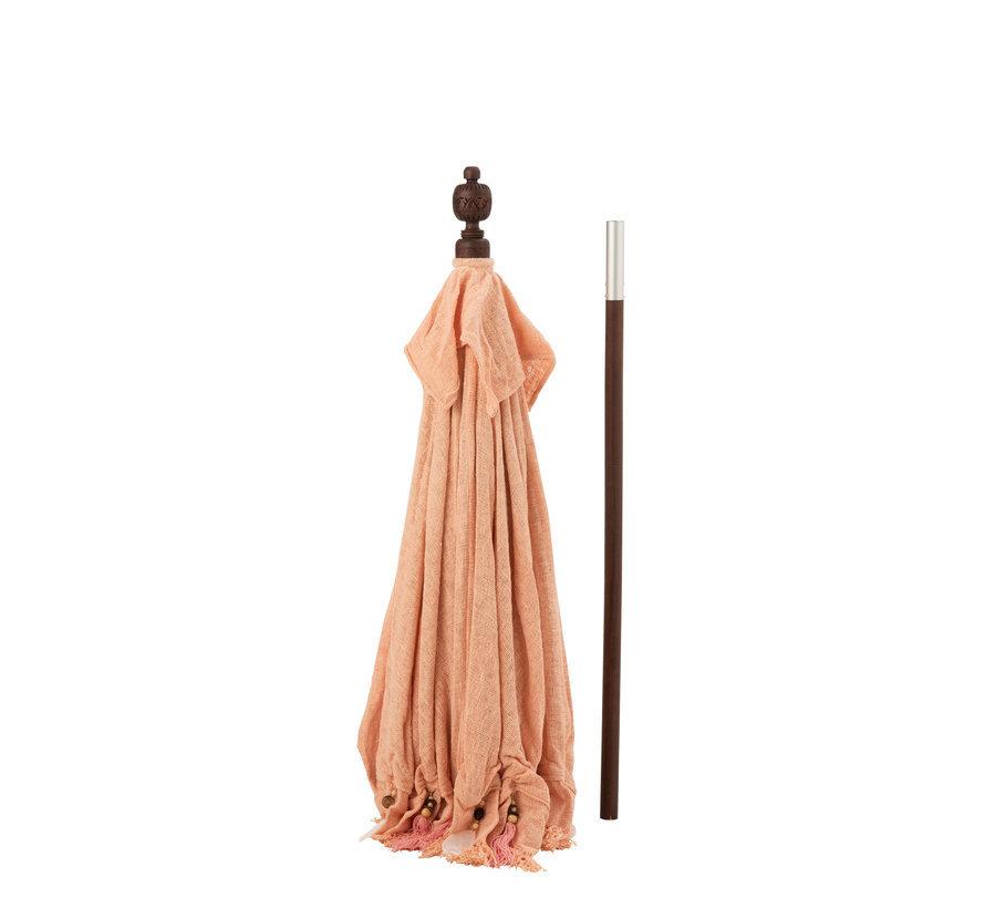 Parasol Tassels Cotton Peach Large