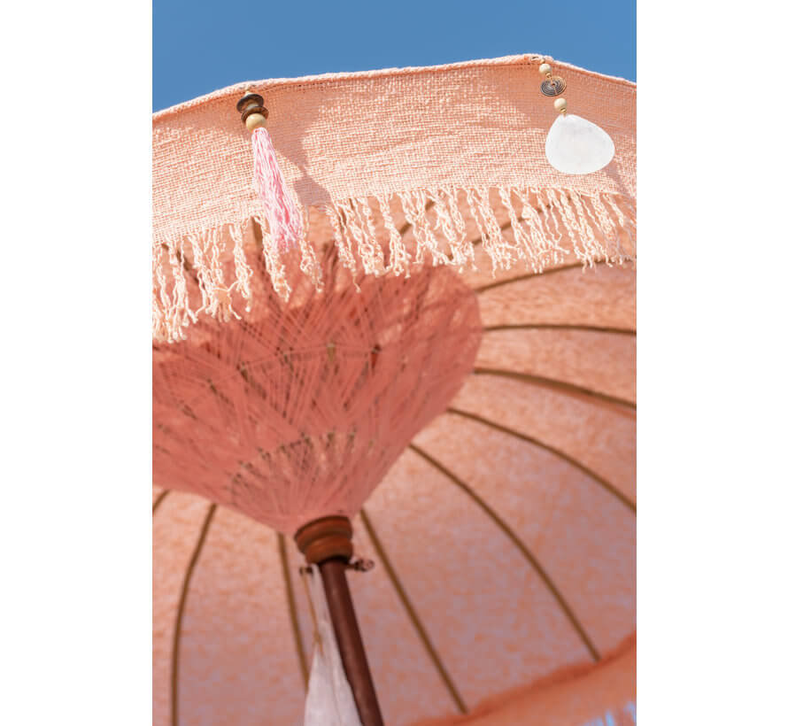 Parasol Tassels Cotton Peach Small
