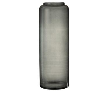 J -Line Flessen Vaas Hoog Glas Grijs Extra Large