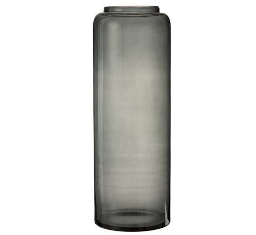 J-Line Flessen Vaas Hoog Glas Grijs Extra Large