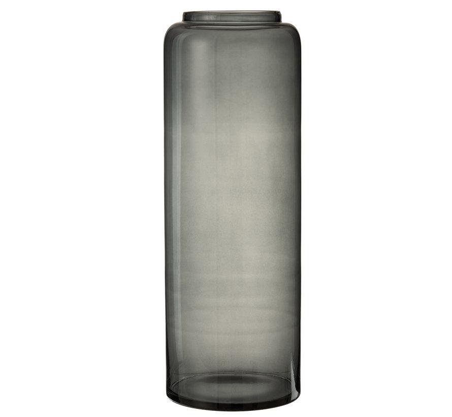 Bottles Vase High Glass Gray Extra Large