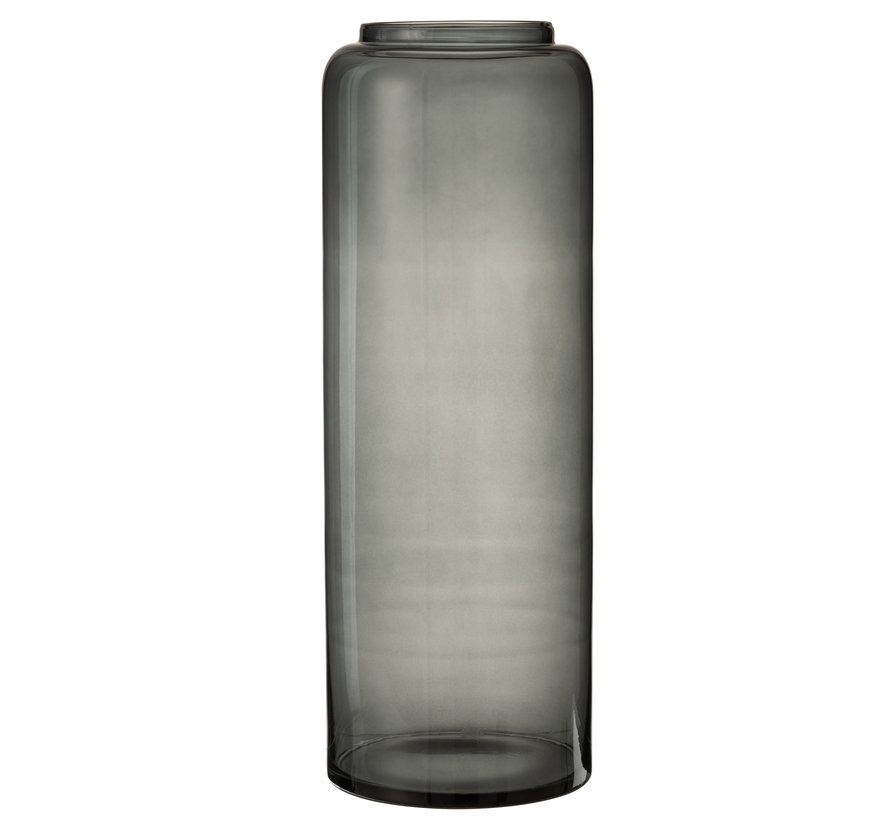 Flessen Vaas Hoog Glas Grijs Extra Large