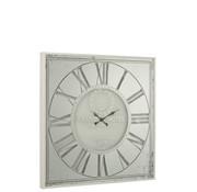 J-Line Wall Clock Square Metal Large