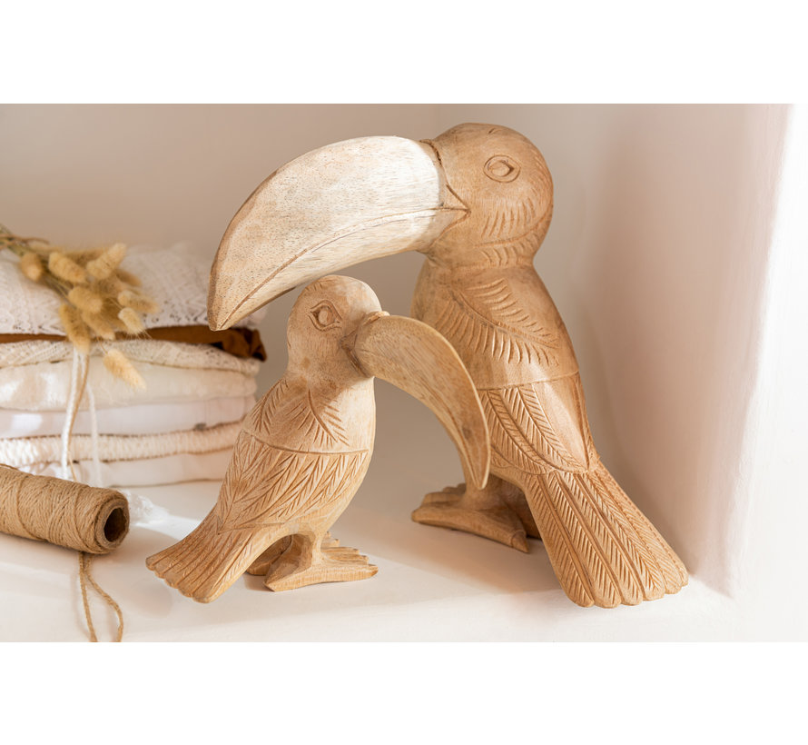 Decoration Statue Toucan Wood Small