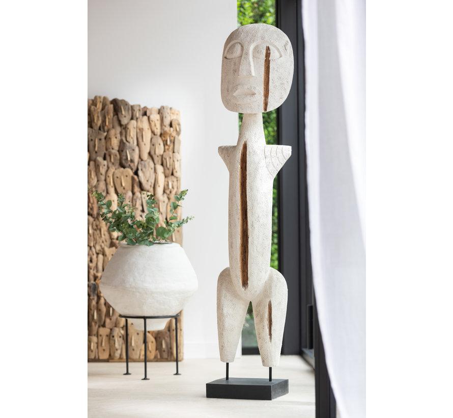 Decoration Sculpture Primitive Wood Extra Large