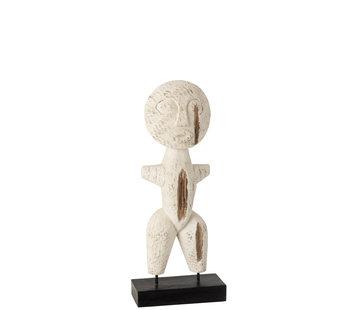 J-Line Decoration Sculpture Primitive Wood Small