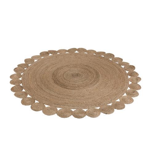 J-Line Carpet Round Jute Natural Brown