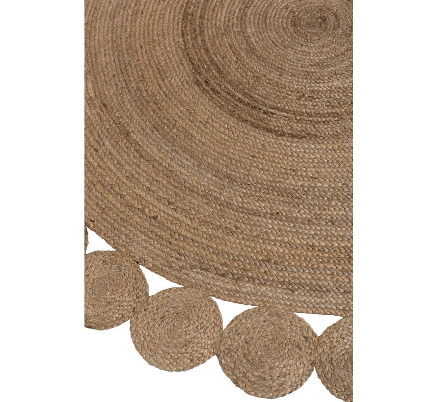 Carpet Round Jute Natural Brown