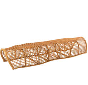 J-Line Garden bench Round Bamboo Natural Brown