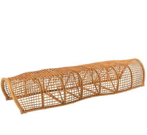 J -Line Garden bench Round Bamboo Natural Brown