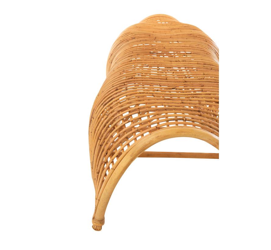 Garden bench Round Bamboo Natural Brown